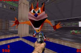 Crash Bandicoot Meme - crash bandicoot whoa meme replaces every demon in doom