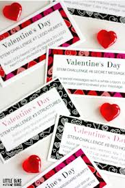 valentines challenge cards science stem