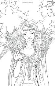 detailed coloring pages of dragons fairies coloring pages detailed fairy coloring pages artist fantasy