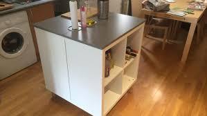 meuble central cuisine un nouvel ilot central cuisine avec kallax bidouilles ikea