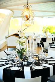 Wedding Table Setting Black Table Decorations For Weddings Regular Price Black And White