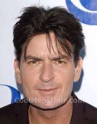 center part mens hairstly charlie sheen middle part hairstyle cool men s hair