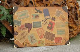 themed photo albums free shipping 10 diy photo album cowhide paper handmade travel