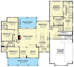 4 Bedroom Farmhouse Plans Modern Farmhouse Plan With Bonus Room 51754hz Architectural