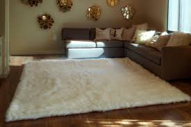 Lamb Skin Rugs White Animal Rug 109 Attractive Finished Sheep Fur Rug Faux
