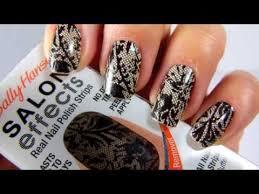 sally hansen salon effects tutorial nail polish step by step
