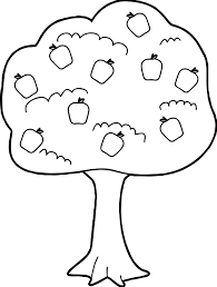 apple fruits coloring pages simple for kids printable free simple