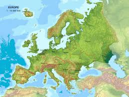 Relief Map Large Detailed Relief Map Of Europe Europe Large Detailed Relief
