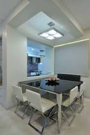 Black Stone Dining Table Top White Wall Color For Dining Room Decorating With Elegant Black