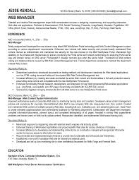 Sharepoint Developer Resumes Awesome Web Manager And Developer Resume Template Sample Featuring