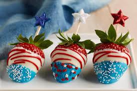 White Chocolate Dipped Strawberries Recipe Red White U0026 Blue Chocolate Covered Strawberries