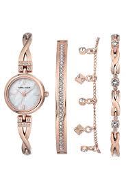 anne klein bracelet set images Buy anne klein anne klein women 39 s ak 3082rgst swarovski crystal jpg