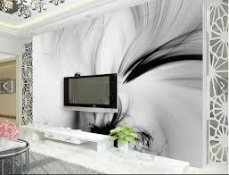 Wohnzimmer Tapeten 3d Abstrract Schwarz Weiß Streifen Linie Tapeten Foto Wandbild