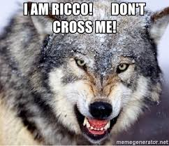 Angry Wolf Meme Generator - i am ricco don t cross me angry wolf meme meme generator