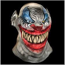 Scary Clown Halloween Costume Chopper Latex Bloody Scary Clown Mask Halloween Decoration Costume