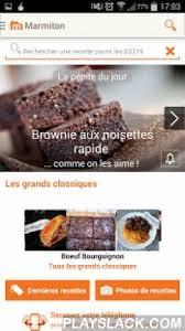 appli cuisine android marmiton recettes de cuisine android app playslack com avec