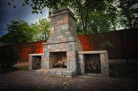 Outdoor Fire Place by Diy Outdoor Fremont Fireplace Kit Makes Hardscaping Simple And Fast