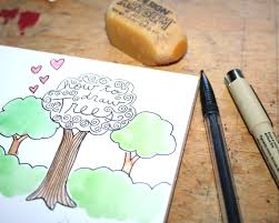 learn how to draw trees with 2 simple methods