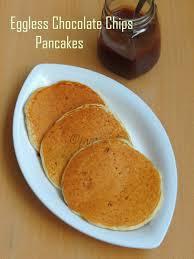 Pancake Flour Priya U0027s Versatile Recipes Eggless Chocolate Chips Pancakes With