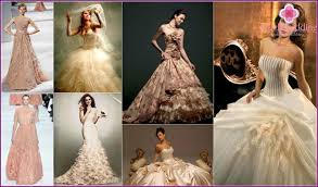 beige wedding dress wedding dress of beige color photos of models and colors in 2015