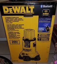 dewalt 20v area light dewalt 20v max li ion bluetooth led large area light bare dcl070