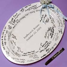 bridal shower plate to sign wedding guest book ideas rooted in