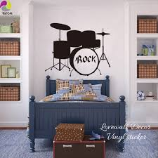 popular band wall decals buy cheap band wall decals lots from rock drums music wall sticker kids room bedroom garage band dj rock wall decal boy name