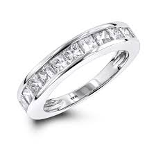 10k wedding ring 1 row princess cut wedding band 1 65ct 10k gold
