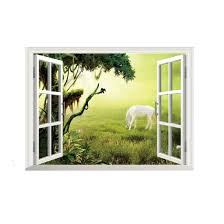 online buy wholesale window mural wallpaper from china window hot sale removable 3d mural wallpaper window grassland horse wall stickers for home decoration free shipping