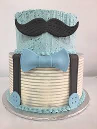 little gentleman baby shower cake buttercream with modeling