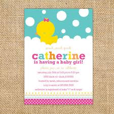 duck baby shower invitations girl rubber ducky baby shower invitation printable girl baby