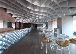 Ceiling Ceiling Grid Enchanting Ceiling Grid Installation by Undulating Grid Ceilings V U0027ammos Restaurant By Lm Architects