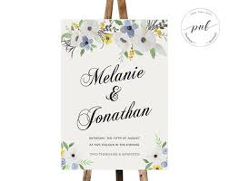 wedding welcome sign template floral wedding sign printable wedding welcome sign with boho