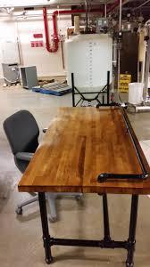 reclaimed butcher block workbench top converted to a desk diy reclaimed butcher block workbench top converted to a desk