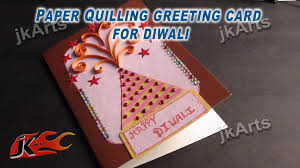 diy paper quilling greeting card for diwali jk arts 333 youtube