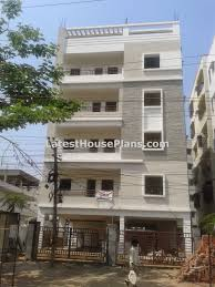 Row House Front Elevation - small four floor apartment elevations in hyderabad latest house