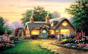 peaceful beautiful cottage wallpapers widescreen wallpapers