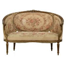 19th century sofa styles french louis xvi style carved antique giltwood settee canape sofa