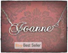 Personalized Name Necklace Sterling Silver Sterling Silver Calligraphy Script Name Necklace Personalized