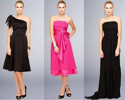 pink and black bridesmaid dresses overlay wedding dresses