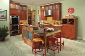 Cherry Kitchen Cabinets With Granite Countertops Furniture Amazing Cherry Kitchen Cabinets Paired With Brown