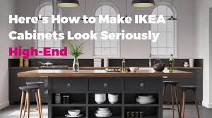 ikea kitchen cabinet colours here s how to make ikea cabinets look seriously high end