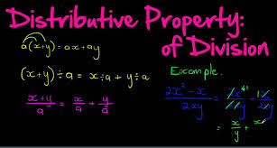 distributive property of division youtube