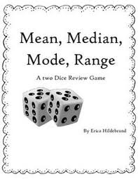 the mean median and mode card game statistics activities and math