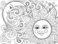 sun and moon coloring pages inspirational 9 pics of sun and moon
