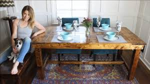 farmhouse kitchen furniture how to build a rustic farmhouse kitchen table for only 50