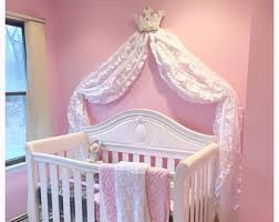 Bed Crown Canopy Shabby Chic Wall Bed Crown White Pink Bling Romantic Home