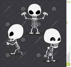 Cute Halloween Vector Halloween Character Set Cute Skeleton Cartoon Vector Illustration