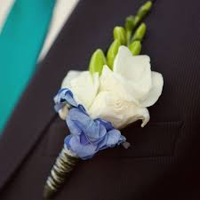 blue boutonniere lisianthus and hydrangeas boutonnieres search projects
