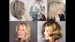 hairstyle for women over 50 with long nose top 30 stylish medium hairstyles for women over 50 youtube